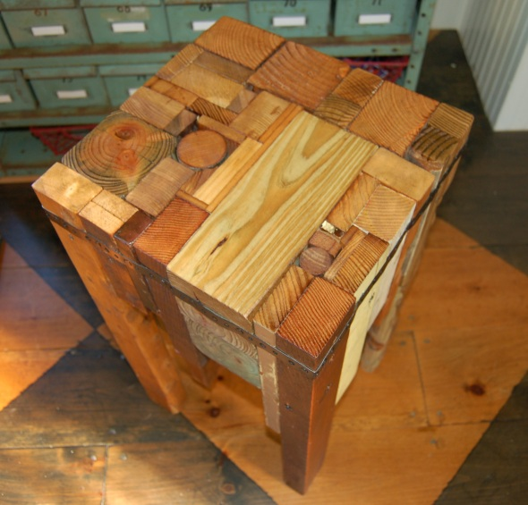Yellow Chair Market » Wood Scrap Stool/Table