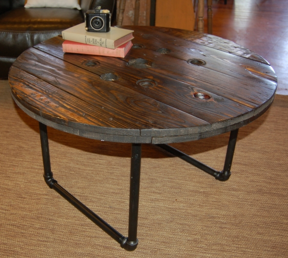 Yellow Chair Market Spool Top Coffee Table