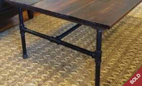 Barnwood and Iron Pipe Coffee Table