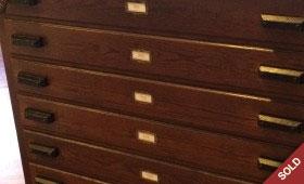 Handmade Wooden Flat File Chest