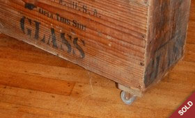 Glass Crate Side Table