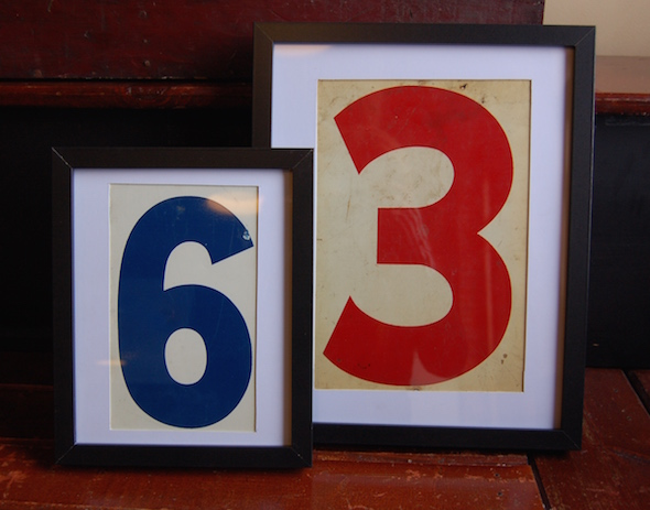 Yellow Chair Market 187 Framed Vintage Gas Station Numbers