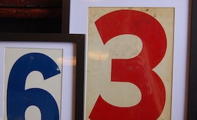 Framed Vintage Gas Station Numbers