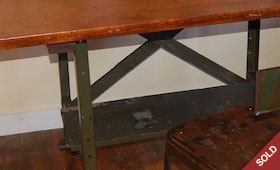 Industrial Desk and Stool