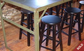 Industrial Work Desk & Stools
