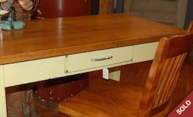 Vintage Yellow Desk