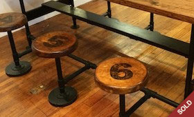 Vintage Cafeteria Table