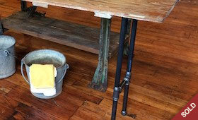 Industrial Hall Table