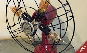 Repurposed Fan Light – Red